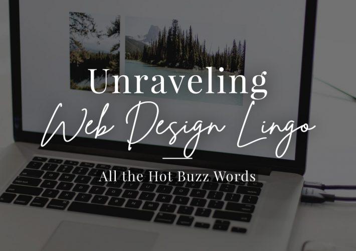 Unravelling Web Design Lingo
