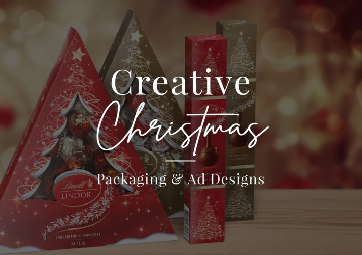 creative christmas packaging and ad designs