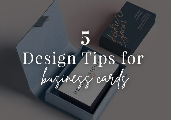 5 tips for your first business cards
