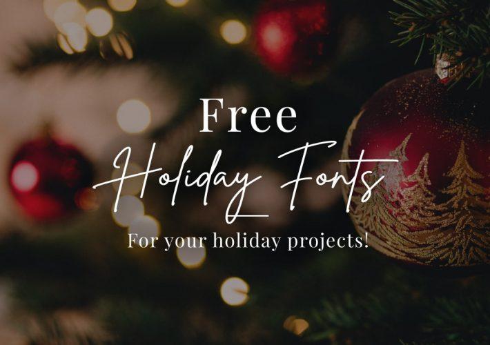 blog free holiday fonts