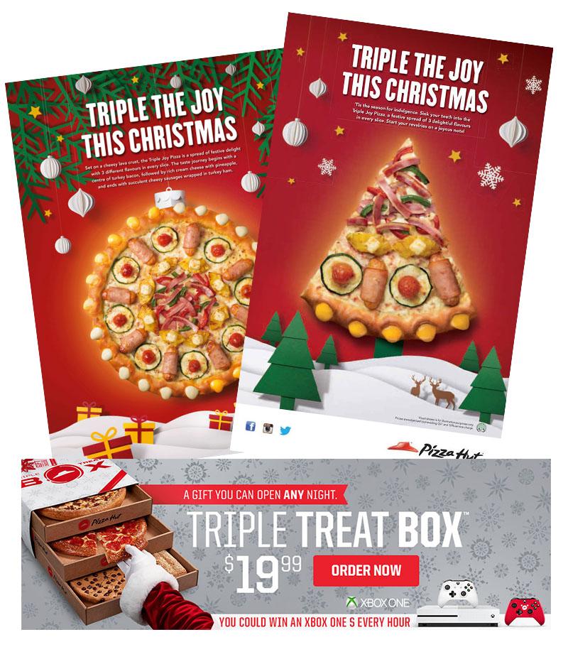 Christmas pizza hut advertisements