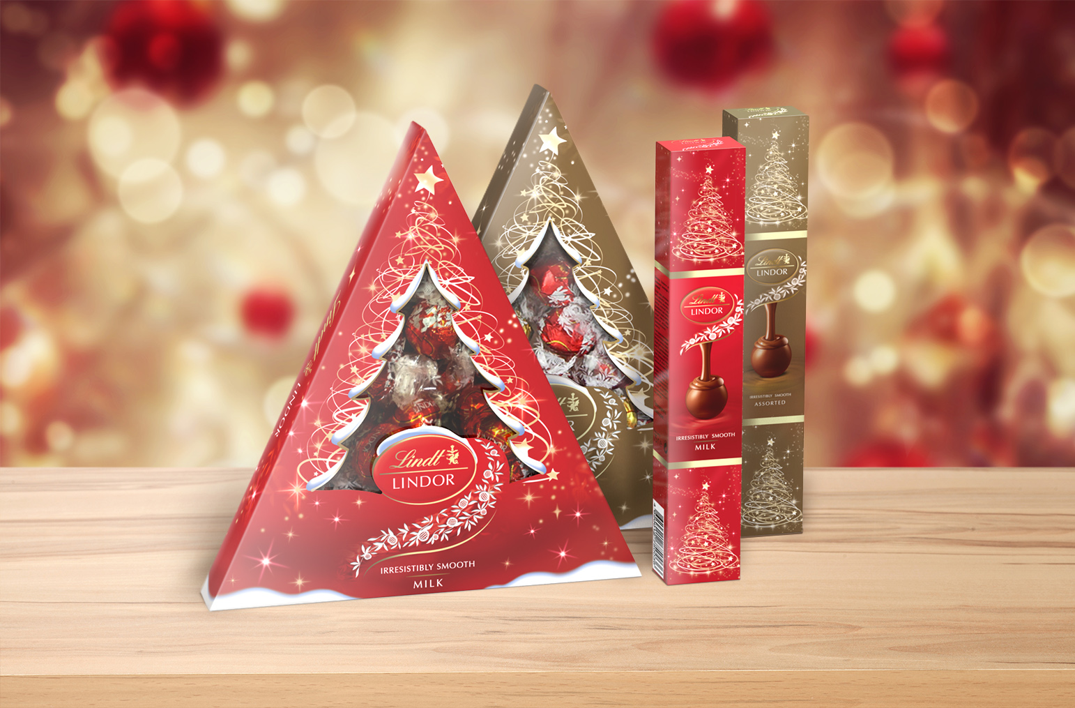 Lindt chocolate christmas packages