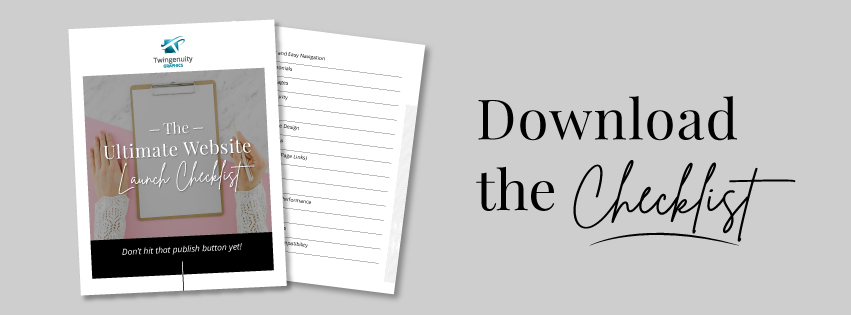 PDF download website launch checklist