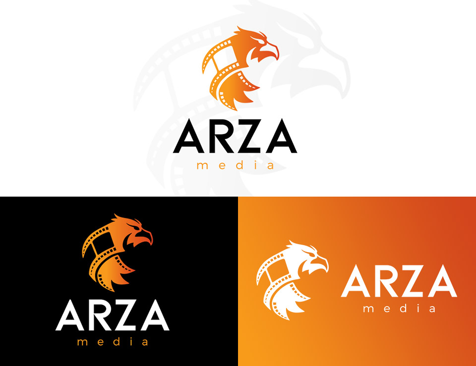 arza media logo and branding designs