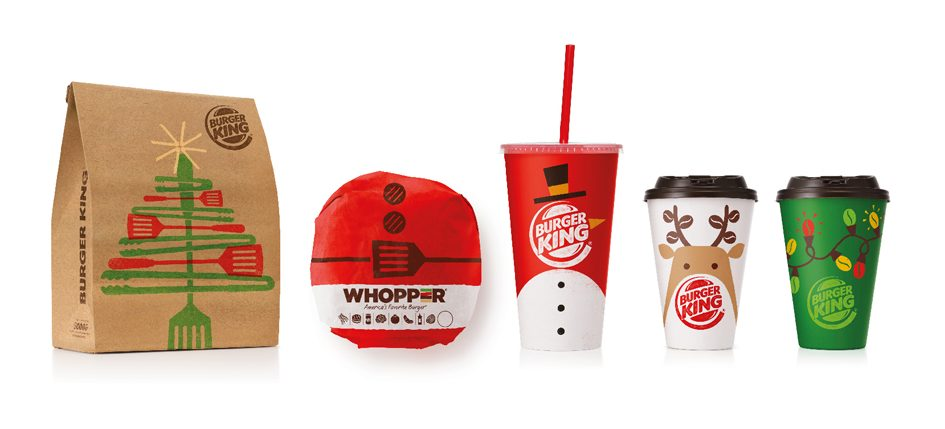 christmas take out from burger king