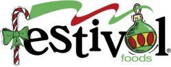 christmas holiday festival logo
