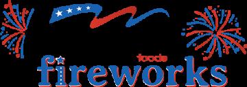 festival fireworks logo design