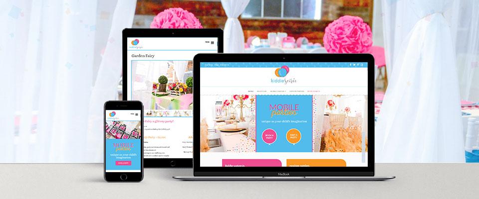 kiddie soiree responsive website