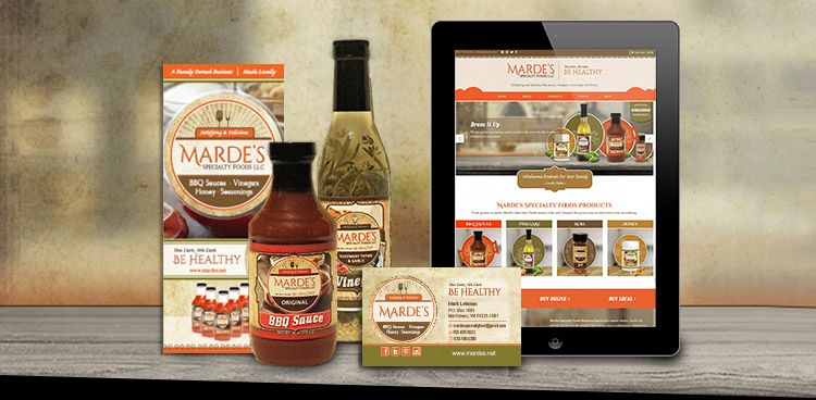 mardes website logo and product label case study