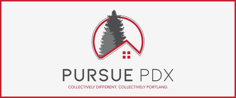 pursue pdx logo design