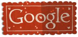 valentines day google doodle design