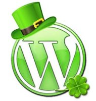 wordpress logo design st patricks day