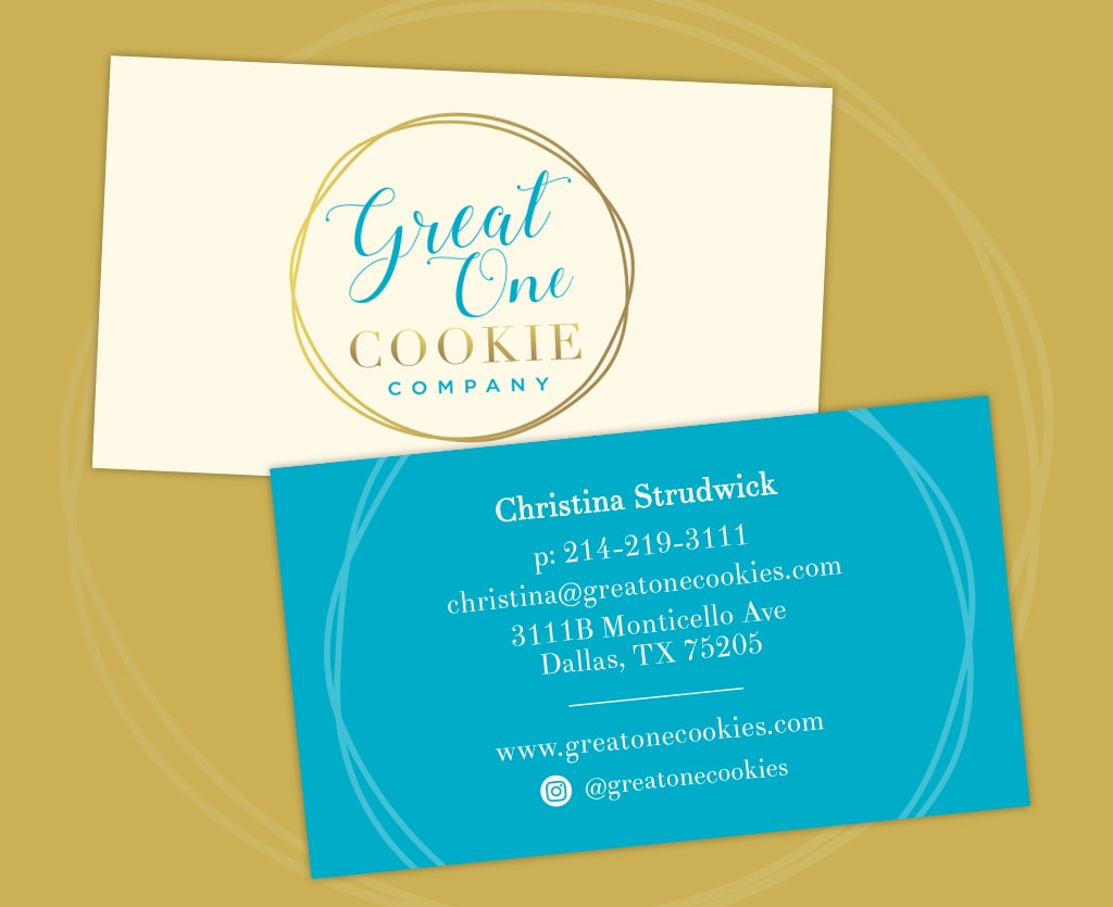 Great One Cookie business cards