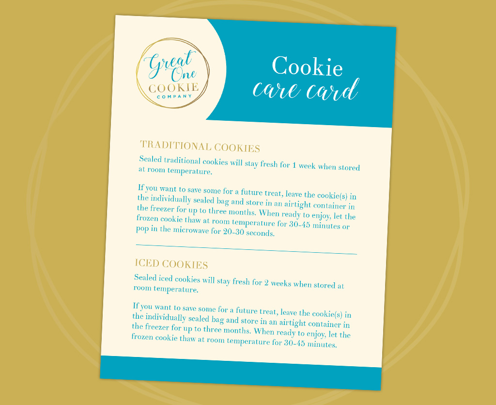 Great One Cookie cookies care card