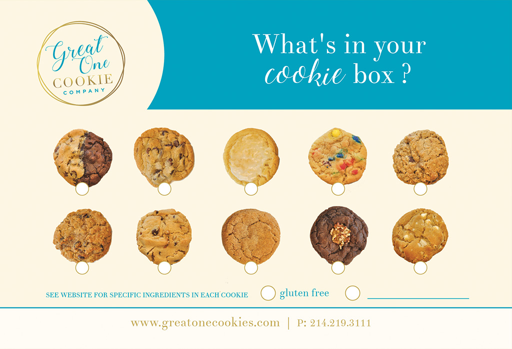 Great One Cookie subscription card back