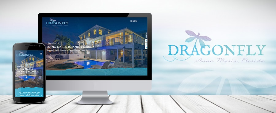 dragonfly website and branding design
