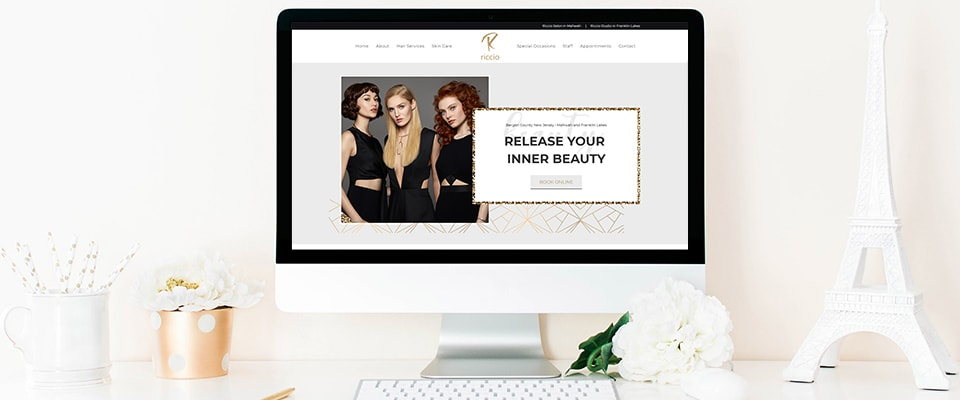 riccio salon wordpress website design