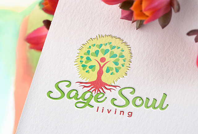 sage soul living logo and branding design