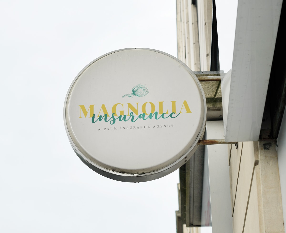 magnolia insurance logo on sign