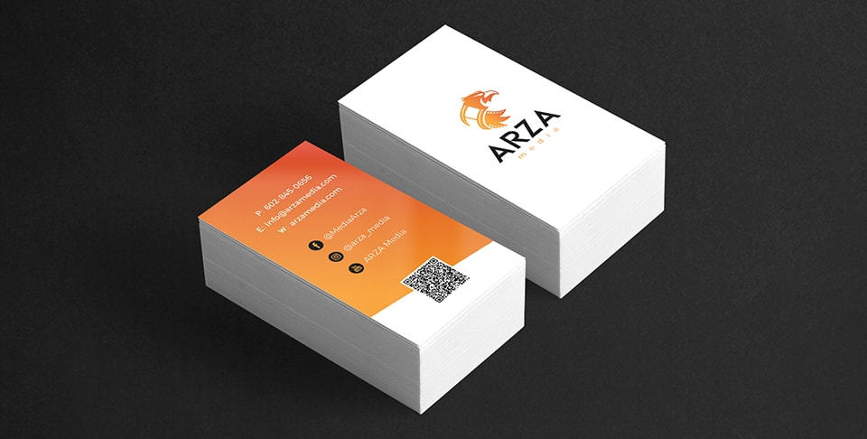 arza media business card designs