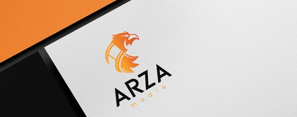 arza media letterhead design