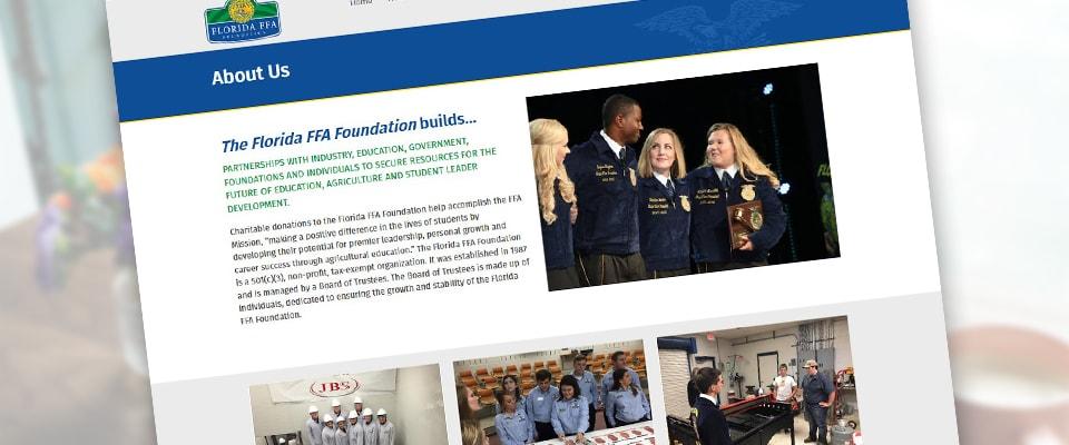 Florida FFA foundation Website Design