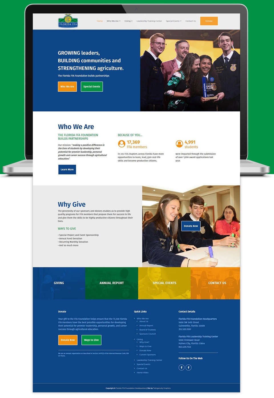 florida ffa foundation website design
