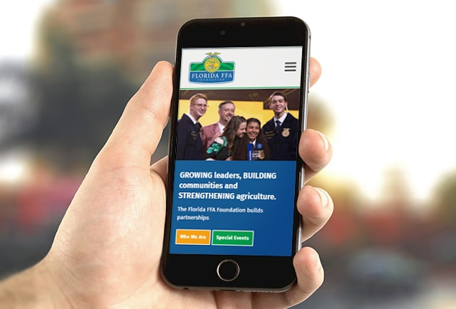 FFA Foundation Mobile Website Design