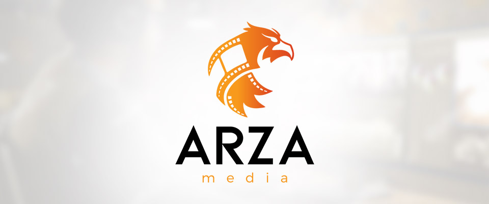arza media logo design and branding