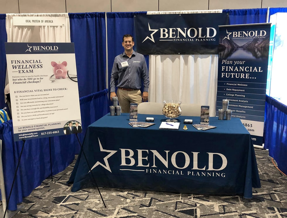 benold financial planning tradeshow booth design