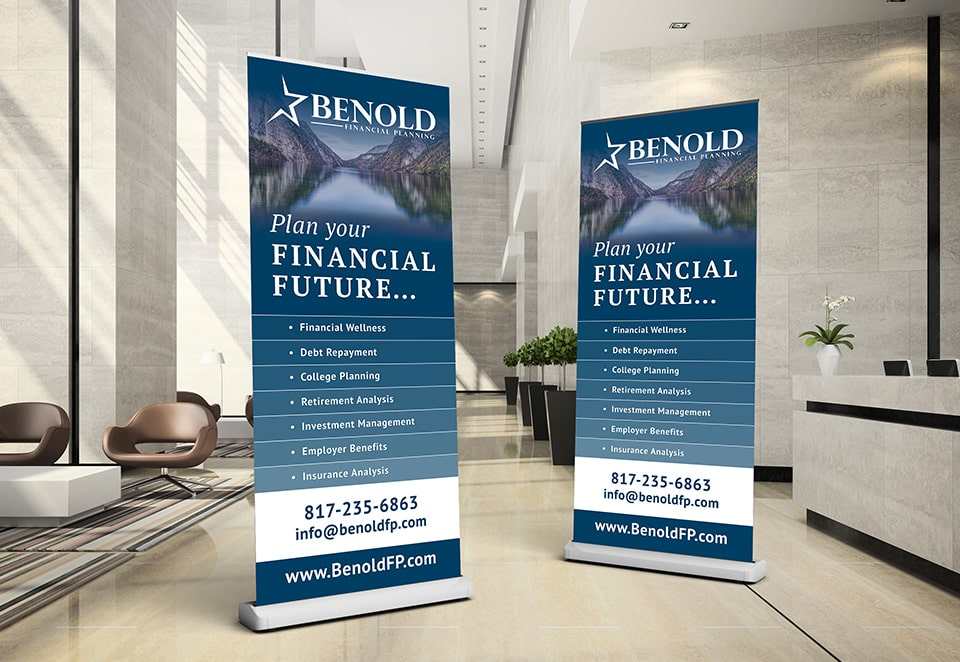 benold financial tradeshow banner design