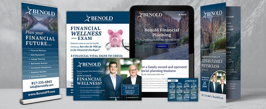 Benold Financial Planning Website and Print design