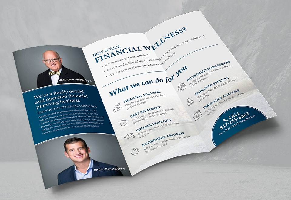benold financial planning brochure inside