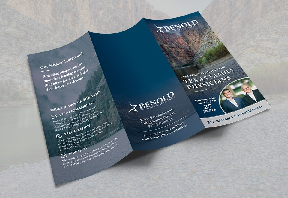 benold financial planning brochure outside