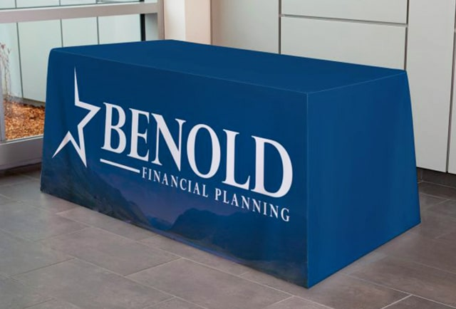 benold tradeshow table runner