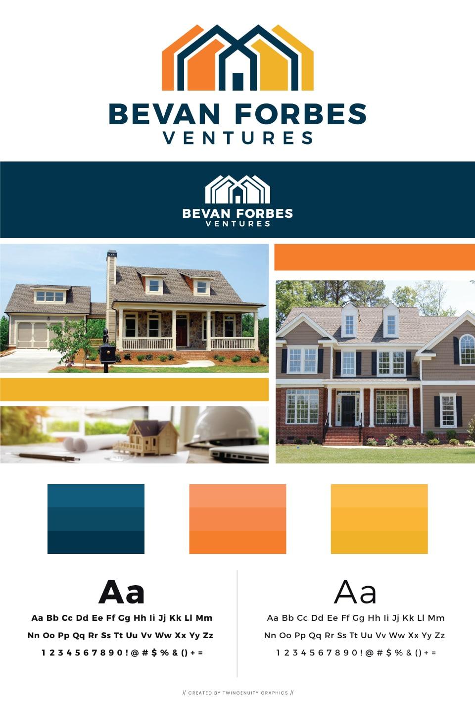 branding board for bevan forbes real estate