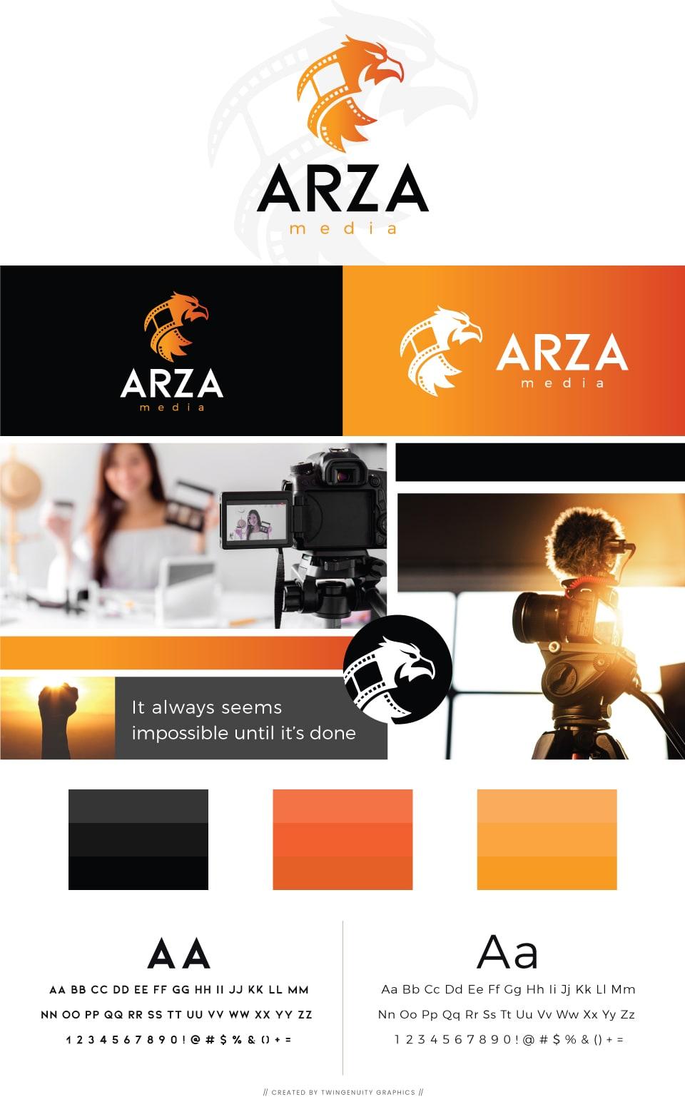 arza media branding board