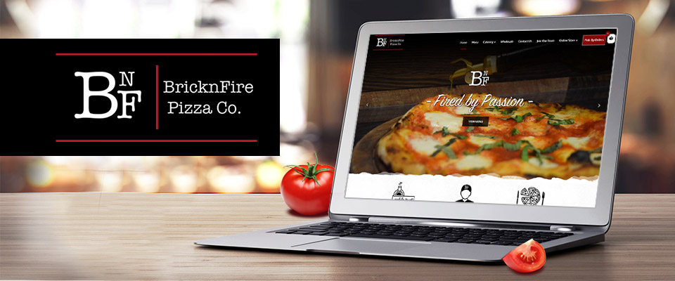 bricknfire pizza website design