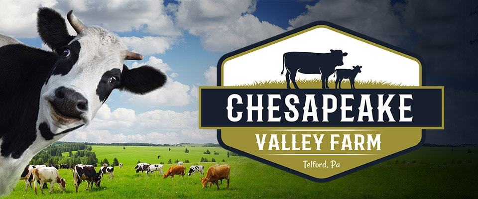 chesapeake valley farm logo design