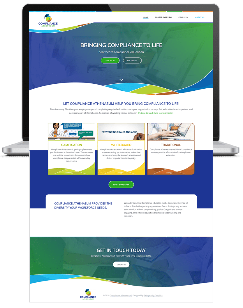 compliance athenaeum home page website design
