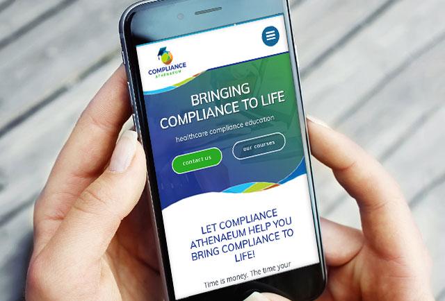 compliance athenaeume mobile website design