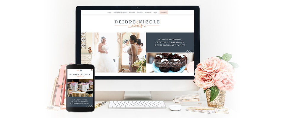 event planner website design and graphic design items
