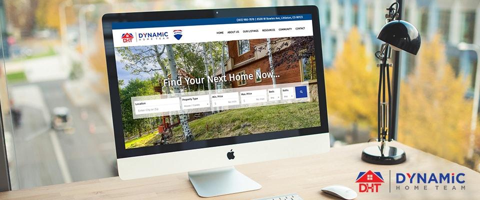 dynamic home team real estate website design
