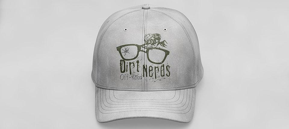 dirt nerds logo on cap