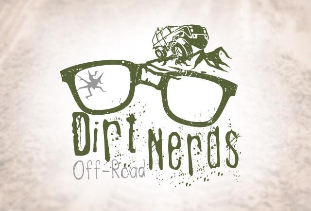 dirt nerds off-road logo design