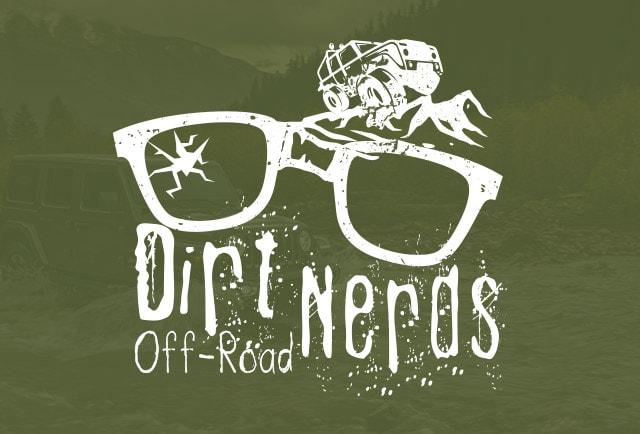 dirt nerds white logo on green