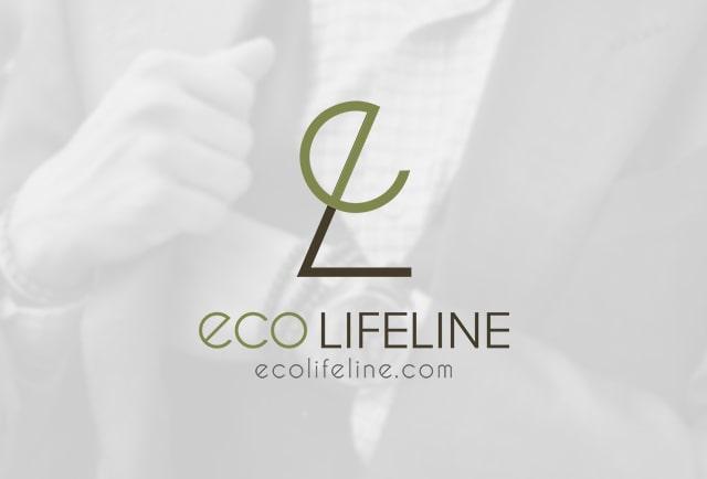 eco lifeline clothing logo design