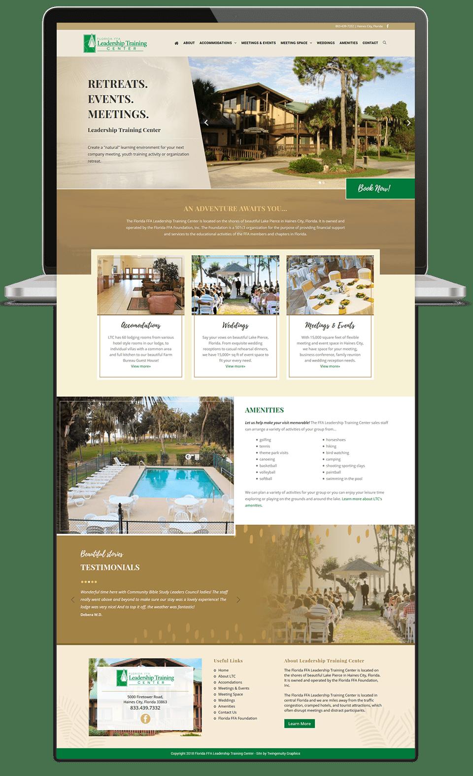 leadership training center website design