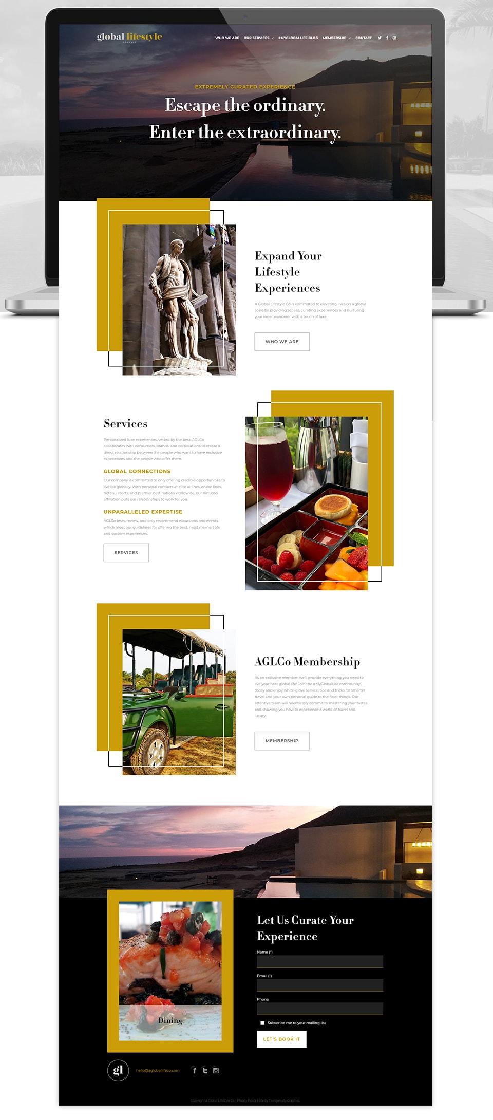 global lifestyle blog wordpress website design