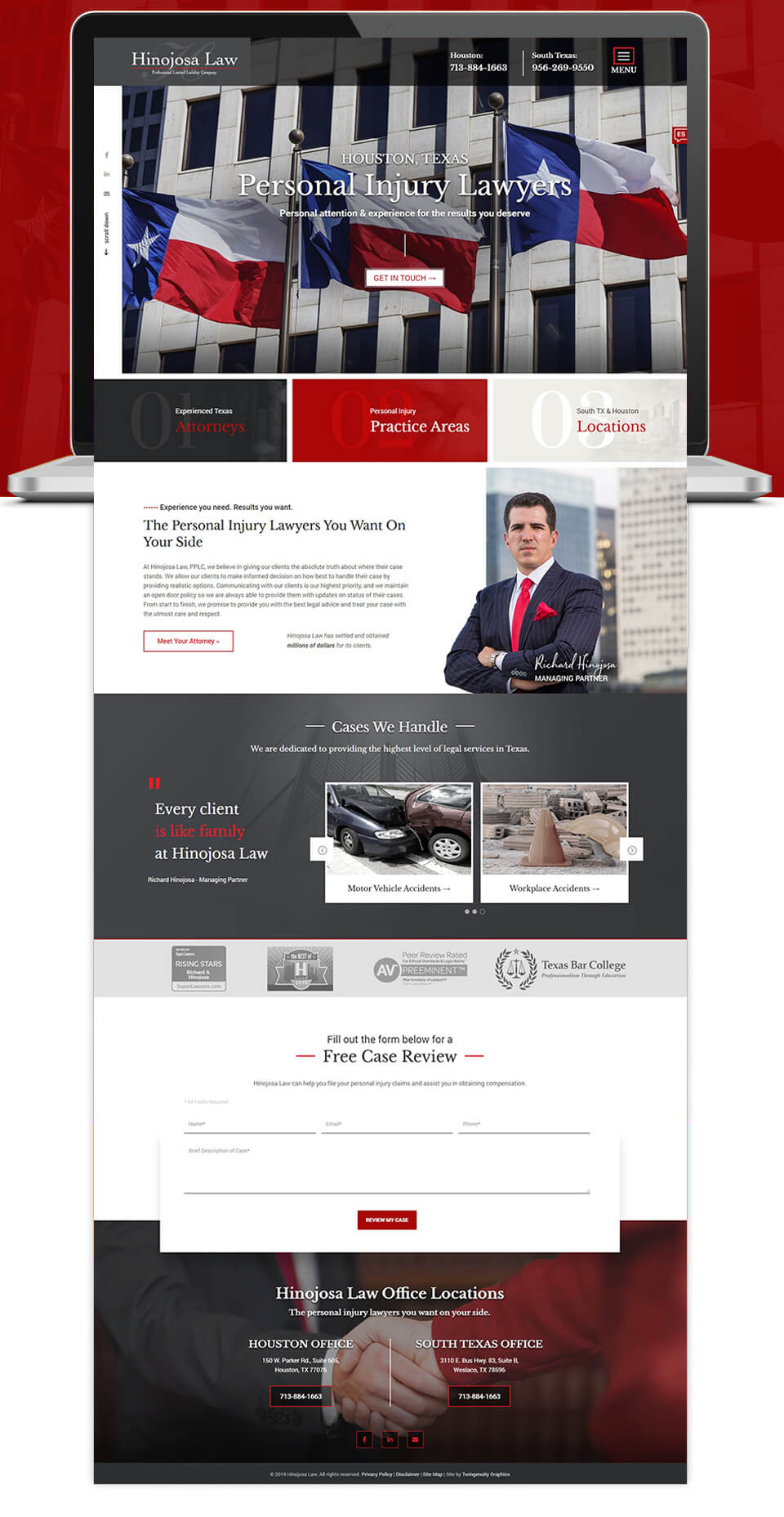 law firm wordpress development and design